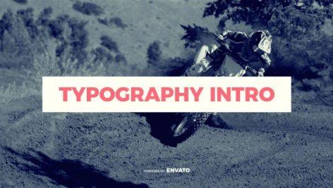 دانلود پروژه آماده افترافکت : تیتراژ فیلم videohive Typography Intro