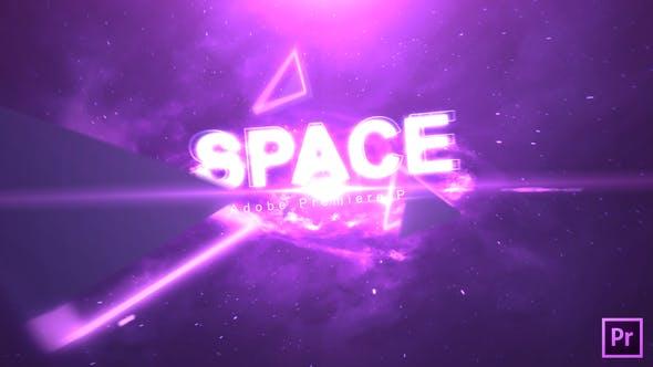 دانلود پروژه آماده پریمیر برای تایتل بنام Space Text Premiere Pro