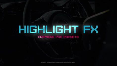 دانلود پریست نوری آماده پریمیر : motionarray Highlight FX premiere pro