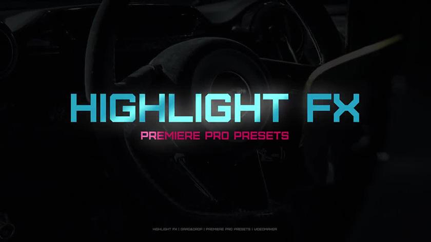 دانلود پریست نوری آماده پریمیر  motionarray Highlight FX premiere pro