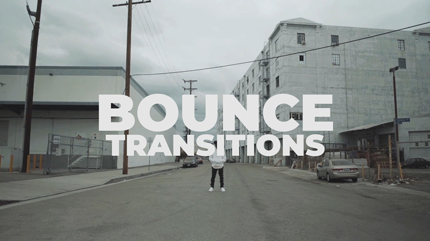 دانلود پکیج ترنزیشن حرفه ای و زیبای پریمیر  Bounce Transitions Transitions Premiere Pro