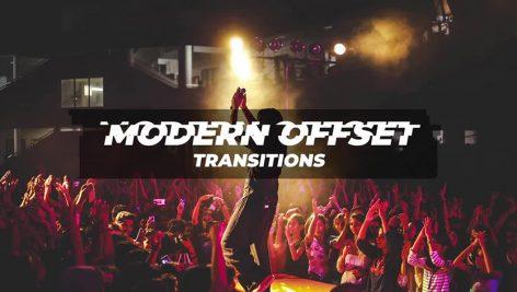 دانلود پکیج ترنزیشن حرفه ای و زیبای پریمیر : Modern Offset Transitions