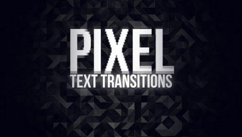 دانلود پکیج ترنزیشن حرفه ای پریمیر : Pixel Text Transitions Premiere Pro