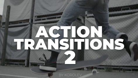 دانلود پکیج ترنزیشن حرفه ای پریمیر motionarray Action Transitions V.2 Premiere Pro