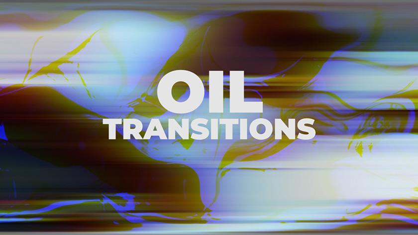 دانلود پکیج ترنزیشن حرفه ای پریمیر : motionarray Oil Transitions Premiere Pro