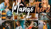دانلود 5 پریست لایت روم موبایل : Neo Mango Theme mobile lightroom presets