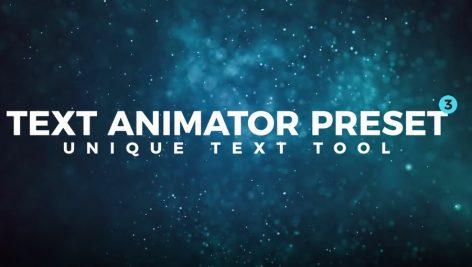 دانلود مجموعه تایتل آماده متن پریمیر Text Animator Preset V3