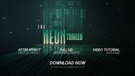 دانلود پروژه آماده افترافکت با موزیک وله The Neon Trailer