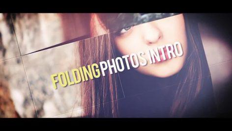 دانلود پروژه آماده افترافکت با موزیک پروژه اسلایدشو Folding Photos Intro