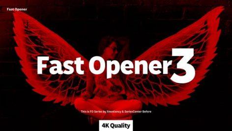 دانلود پروژه آماده حرفه ای افترافکت : تیتراژ فیلم Fast Opener 03
