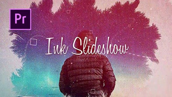 دانلود پروژه آماده پریمیر با آهنگ : اسلایدشو Ink Slideshow Premiere Pro Templates