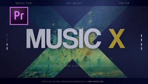 دانلود پروژه آماده پریمیر با موزیک پروژه : تیتراژ  Music X