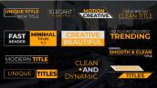 دانلود 14 تایتل آماده پریمیر مخصوص فیلم : Clean Titles V1