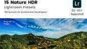 دانلود 15 پریست لایت روم : Nature HDR Lightroom preset