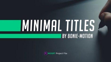 دانلود 25 تایتل آماده پریمیر رزولوشن 4K بنام : Minimal Titles