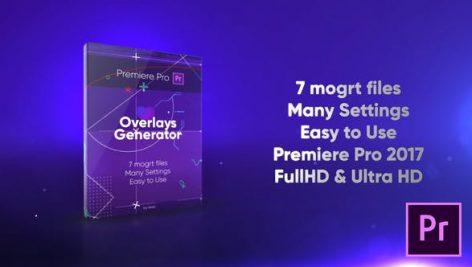 دانلود مجموعه شکل ساز آماده پریمیر Overlays Generator