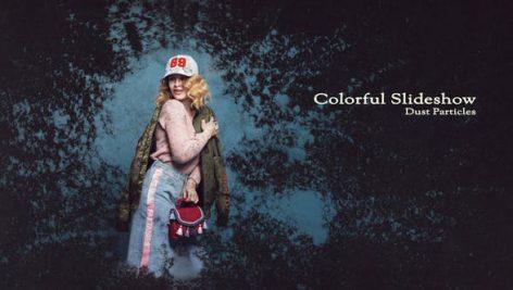 دانلود پروژه آماده افترافکت با موزیک : اسلایدشو و تیتراژ Colorful Slideshow Dust Particles