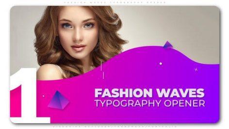 دانلود پروژه آماده افترافکت با موزیک : اسلایدشو و تیتراژ Fashion Waves Typography Opener