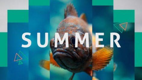 دانلود پروژه آماده افترافکت با موزیک اسلایدشو و تیتراژ Summer Dynamic Opener