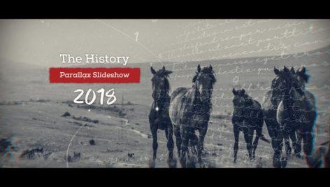 دانلود پروژه آماده افترافکت با موزیک : اسلایدشو History Parallax Slideshow