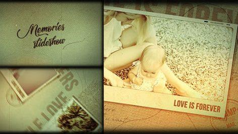 دانلود پروژه آماده افترافکت با موزیک : اسلایدشو Memories Slideshow