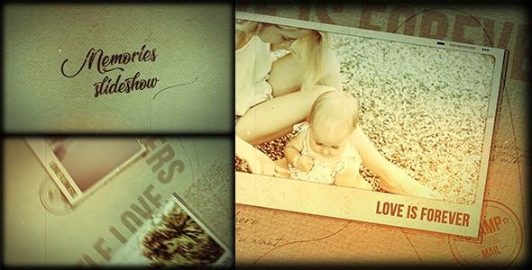 دانلود پروژه آماده افترافکت با موزیک اسلایدشو Memories Slideshow