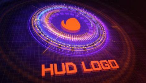دانلود پروژه آماده افترافکت با موزیک : نمایش لوگو HUD Logo Reveal