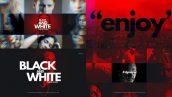 دانلود پروژه آماده افترافکت با موزیک : وله Black And White Dynamic Opener