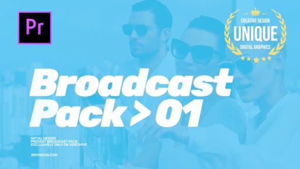 دانلود پروژه آماده پریمیر با موزیک پروژه  تیتراژ  Modern Broadcast Pack