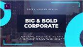 دانلود پروژه آماده پریمیر با موزیک : معرفی شرکت Big Bold Corporate