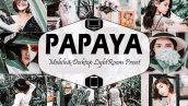 دانلود پریست لایت روم دسکتاپ و موبایل Papaya Mobile Desktop Lightroom Presets (1)