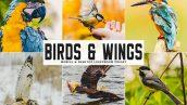 دانلود پریست لایت روم و Camera Raw و اکشن: Birds Wings Mobile Desktop Lightroom Presets