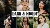 دانلود پریست لایت روم و Camera Raw و اکشن: Dark Moody Lightroom Presets