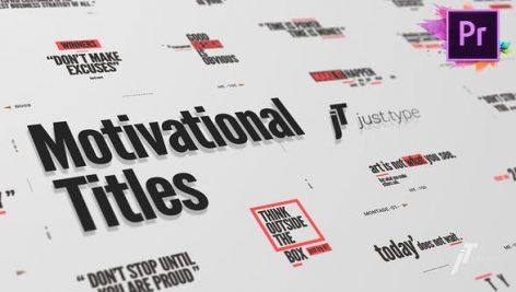 دانلود ۲۰ تایتل آماده پریمیر رزولوشن ۴K بنام : Just Type Motivational Titles