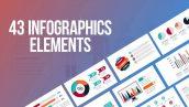 پروژه پریمیر با موزیک 43 المان اینفوگرافیک Infographics