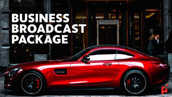 دانلود پکیج حرفه ای تایتل و معرفی شرکت افترافکت : Business Broadcast Package
