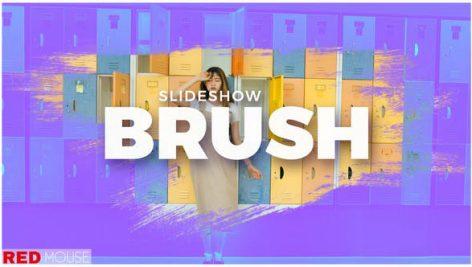 دانلود پروژه آماده افترافکت با موزیک اسلایدشو Brush Slideshow