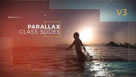 دانلود پروژه آماده افترافکت با موزیک : اسلایدشو Parallax Glass Slides