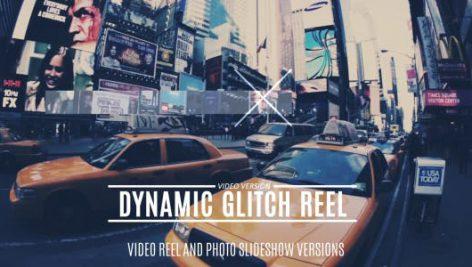 دانلود پروژه آماده افترافکت با موزیک : تیتراژ فیلم Dynamic Glitch Reel