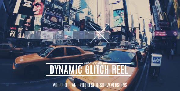 دانلود پروژه آماده افترافکت با موزیک  تیتراژ فیلم Dynamic Glitch Reel