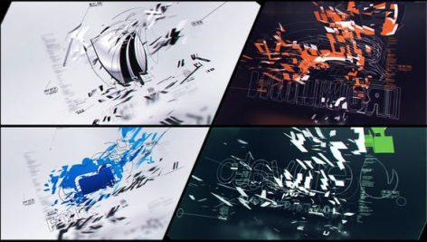 دانلود پروژه آماده افترافکت با موزیک : لوگو Corporate Logo V20 Technology Company Ident