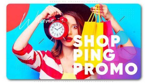 دانلود پروژه آماده افترافکت با موزیک : وله و تیتراژ Shopping Colorful Promo