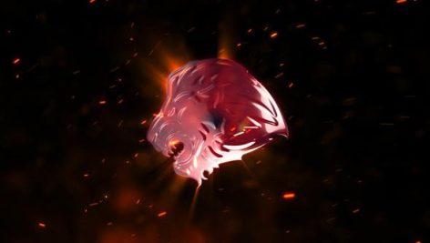 دانلود پروژه آماده افترافکت لوگوی آتشین Explosion Fire Logo
