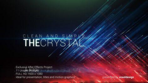 دانلود پروژه آماده تایتل افترافکت فوق حرفه ای The Crystal Titles