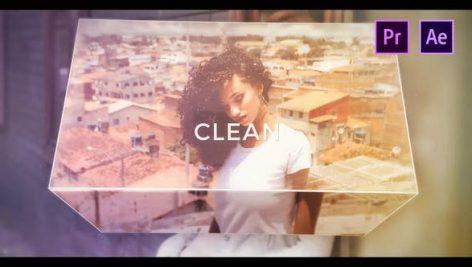 دانلود پروژه آماده پریمیر با موزیک : تیتراژ و لوگو Clean Photo Opener