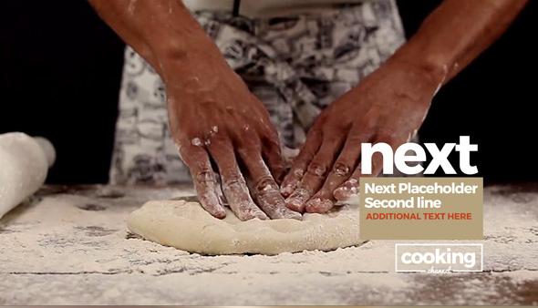 پروژه آماده پریمیر با موزیک : برنامه آشپزی Broadcast Cooking Package Essential Graphics Mogrt