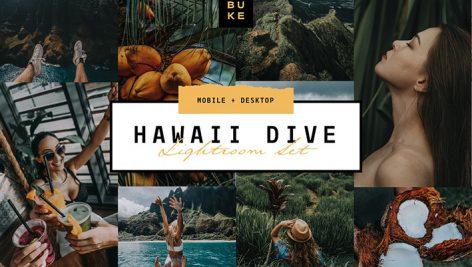 دانلود پریست رنگی لایت روم دسکتاپ و موبایل : Hawaii Tropical Lightroom Preset