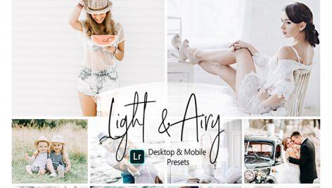 دانلود پریست رنگی لایت روم دسکتاپ و موبایل : Light and Airy Lightroom Presets