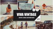 دانلود پریست رنگی لایت روم دسکتاپ و موبایل : Viva Vintage Lightroom Preset