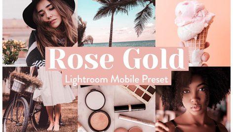 دانلود پریست رنگی لایت روم موبایل : Rose Gold Lightroom Presets Mobile